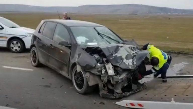 (VIDEO) 11 persoane au fost implicate într-un accident grav!
