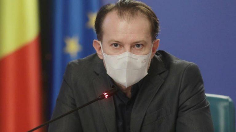 """Florin Cîțu, despre noua restricție: """"O restricţie minoră, dacă mă întrebaţi pe mine, având în vedere contextul european al pandemiei"""""""