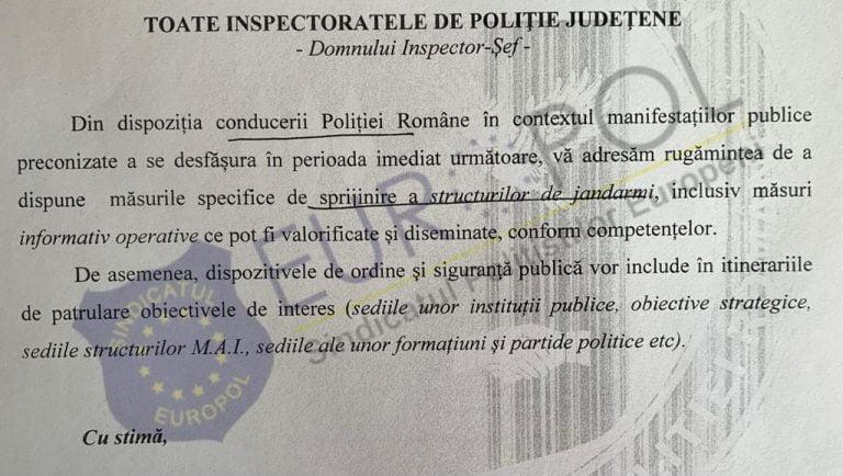Sindicaliștii de la Europol afirmă că polițiștii români sunt folosiți politic!