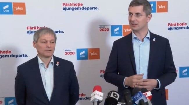 """USR şi PLUS: """"Suntem de azi un sigur partid"""""""
