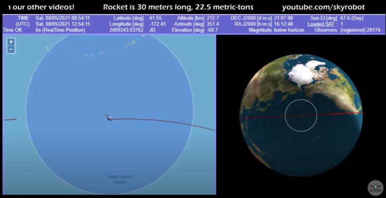 LIVE: Urmărirea resturilor din racheta chinezească scăpată de sub control