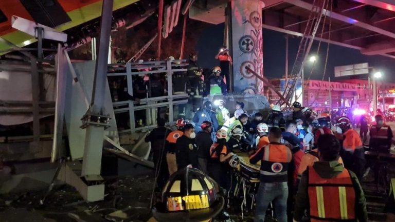 (VIDEO) Momentul în care metroul suspendat se prăbușește în Mexico City! 20 de morți și 70 de răniți!