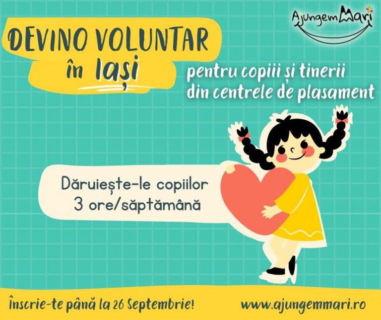Devino voluntar în Iași pentru copiii din centrele de plasament!