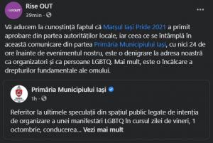 Marșul Iași Pride 2021/ Sursă: Facebook